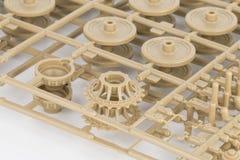 Part of plastic model kit. Royalty Free Stock Photos