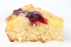 The part plum cake isolated on white Royalty Free Stock Photography