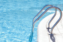 Part of the pool with blue water Stock Image