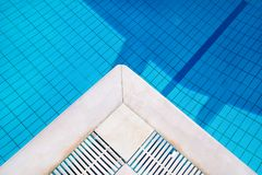 Part of pool and water. Bottom of the pool, background, texture. Royalty Free Stock Images