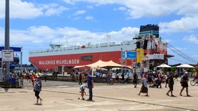 Captain Cook Wharf, Auckland, New Zealand royalty free stock image