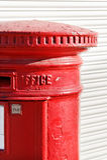 Part of postbox. Stock Photo