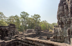 A part of Prasat Bayon, Angkor Thom, Siem Reap, Cambodia. Royalty Free Stock Images