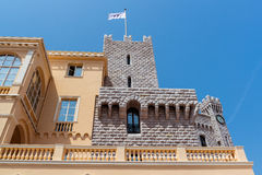 Part of Prince's Palace of Monaco Stock Photos