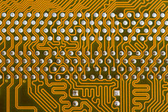 Part of the printed-circuit board. Mother board circuit Large type of a back part of the printed-circuit board royalty free stock photos