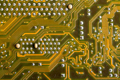 Part of the printed-circuit board Royalty Free Stock Images