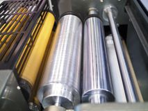Part of printing machine Stock Images