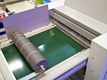 Part of printing machine Stock Photo