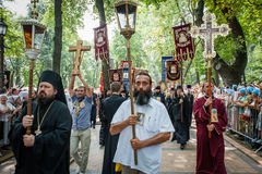 Part of procession for peace in Kyiv Royalty Free Stock Images
