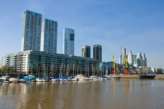 Part of Puerto Madero in Buenos Aires Royalty Free Stock Photos
