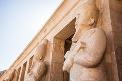 Part of the Queen Hatshepsut's temple Stock Photography