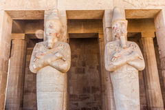 Part of the Queen Hatshepsut's temple Royalty Free Stock Photography