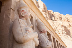 Part of the Queen Hatshepsut's temple Royalty Free Stock Photos