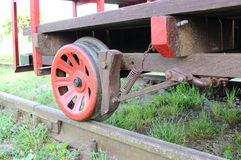 Part of railway pump trolley Royalty Free Stock Photo