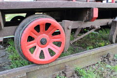 Part of railway pump trolley Stock Image