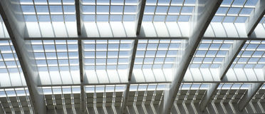 Part of Railway Station Architecture Ceiling royalty free stock photo