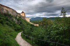 Part of Rasnov fortress royalty free stock photography