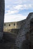 A part of an rebuild ancient castle Stock Photo