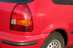 Part of a red car Royalty Free Stock Image