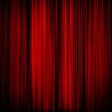 Part of a red curtain - dark. EPS 10 Royalty Free Stock Photos