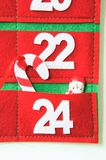 Fabric advent calendar Stock Images