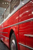 Part of red retro bus. Royalty Free Stock Images