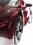 Part of red sports car. Royalty Free Stock Photo