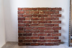Part of Red surface brick wall Royalty Free Stock Images