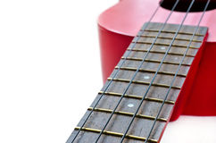 Part of red ukulele Royalty Free Stock Photography