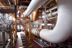 Part of refinery. Offshore Oil Stock Images