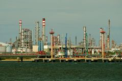 Part of refinery complex. Stock Photography