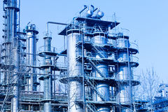 Part of refinery complex Stock Image