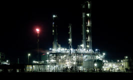 Part of refinery complex, Royalty Free Stock Images