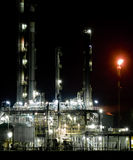 Part of refinery complex. Night,Vojvodina Stock Image