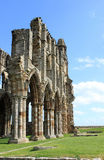 Part of remains of Whitby Abbey, North Yorkshire. Royalty Free Stock Images
