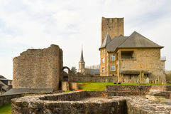 Part of renovation of the castle Royalty Free Stock Photo