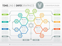 Part of the report with logo and icons set. Vector infographic o Stock Photo