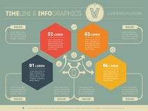 Part of the report with logo and icons set. Vector infographic o Royalty Free Stock Image