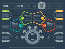 Part of the report with logo and icons set. Vector infographic o Royalty Free Stock Images