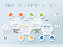 Part of the report with logo and icons set. Vector infographic o Stock Photos