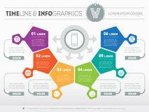 Part of the report with logo and icons set. Vector infographic o Royalty Free Stock Photo