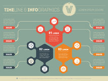 Part of the report with logo and icons set. Vector infographic o Stock Photography