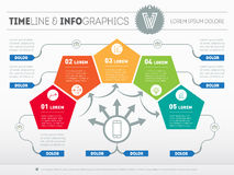 Part of the report with logo and icons set. Vector infographic  Stock Images