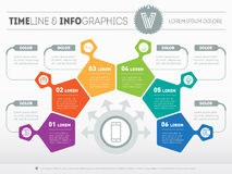 Part of the report with logo and icons set. Vector infographic  Royalty Free Stock Photography
