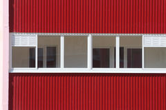 Part of residential building with double glazing at Royalty Free Stock Image