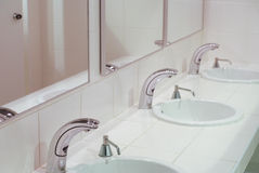 Part of the rest-room interior Stock Images
