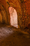 Part of a restored ring oven of a brickyard Stock Photos