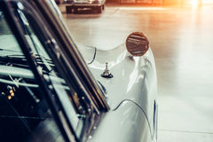 Part retro car close-up. Royalty Free Stock Images