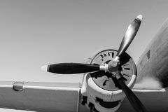 Part retro of the plane in monochrome tones Royalty Free Stock Photography