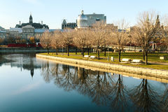 Old port of Montreal. A part of the river in the old port of Montreal, Canada Royalty Free Stock Image